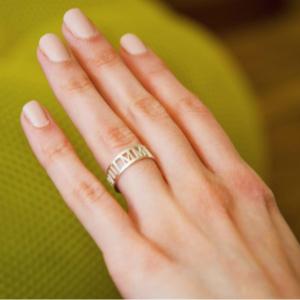 טבעת תאריך אותיות רומיות