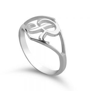 טבעת אות Script