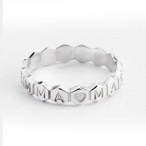 טבעת hexagonal עם חריטה אישית