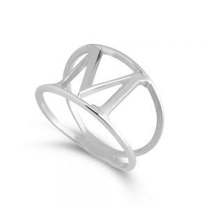 טבעת אלן אות לבחירה • כסף 925