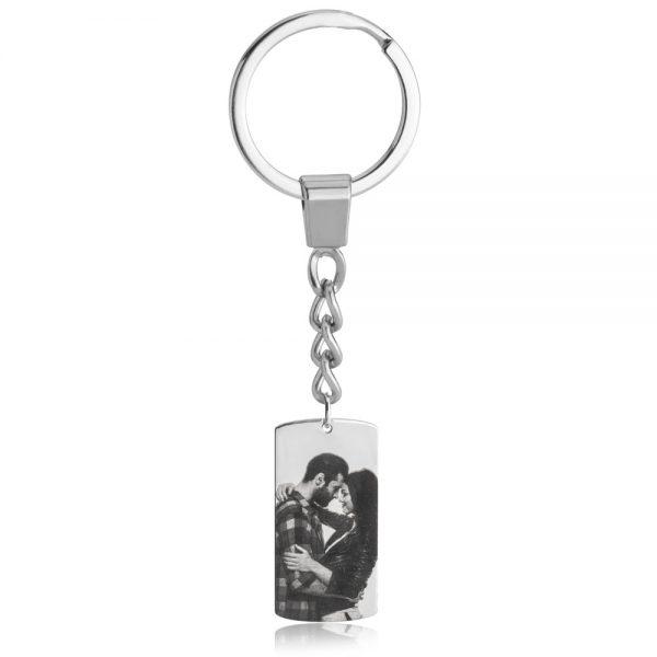 מחזיק מפתחות תמונה • כסף 925