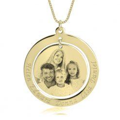 שרשרת משפחה עם תמונה ושמות